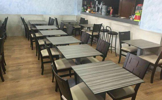 mesas para hostelería con tablero de compacto
